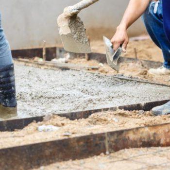 Complete Concreters Sunshine Coast working on a concrete driveway in Eumundi